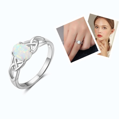 Chic Sterling Silver Ring Jewelry_3