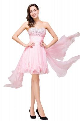 New Arrival A-Line Mini Crystal Sweetheart Ruffles  Homecoming Dress_4