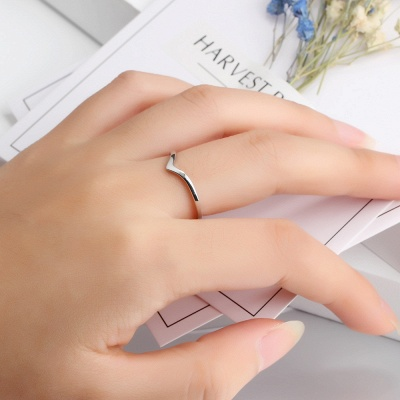 Sterling Silver Ring Jewelry For Fashion Girl_5