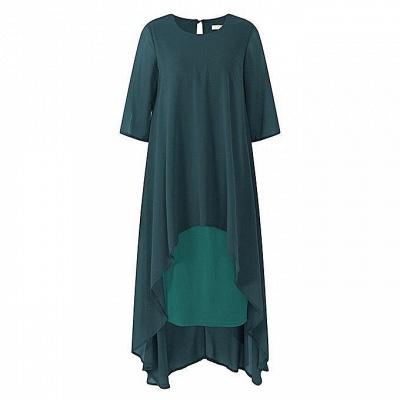 Elegant Chiffon Jewel 3/4 Sleeves Tea Length Mother of Bride Dress_7