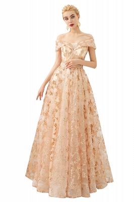 Gorgeous Off the Shoulder A-line Floor Length Lace Prom Dresses | Long Evening Dresses Cheap_1