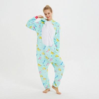 Cute Animal Pyjamas for Women Triceratops Onesie, Green_6