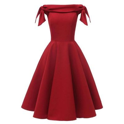 Womens Bateau Burgundy Navy Ruby Vintage Dresses_2