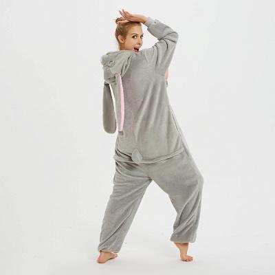 Adorable Adult Pyjamas for Women Long Ears MashiMaro Onesie, Grey_4