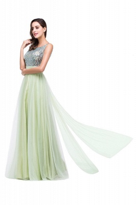 Scoop-Neckline Long Crystal A-line Charming Sleevless  Prom-Dress_9