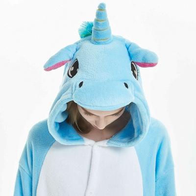 Downy Adult Sky Blue Unicorn Onesies Sleepwear for Girls_18