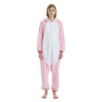 Cute Adult Pink Unicorn Onesies Sleepwear for Girls_19