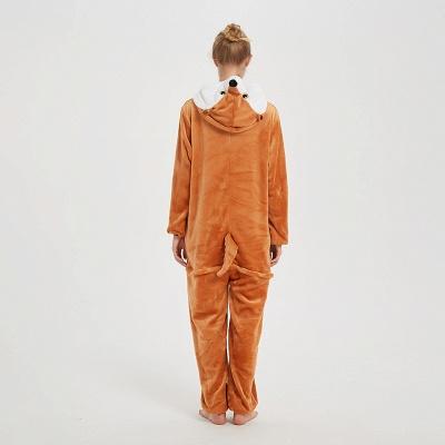 Cute Sleepwear for Women Brown Hoodie Onesies_7