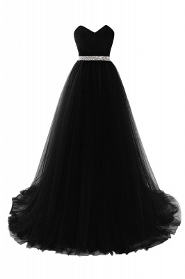Cheap modest sweetheart sleeveless beading a-line prom dress in Stock_6