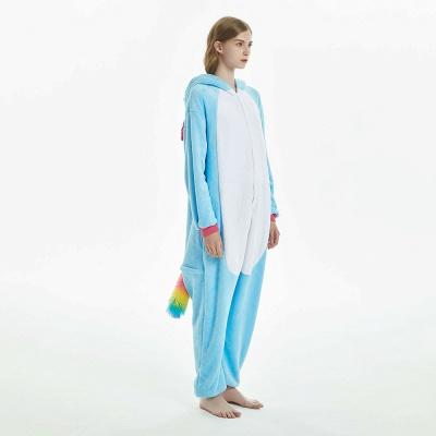 Downy Adult Sky Blue Unicorn Onesies Sleepwear for Girls_4