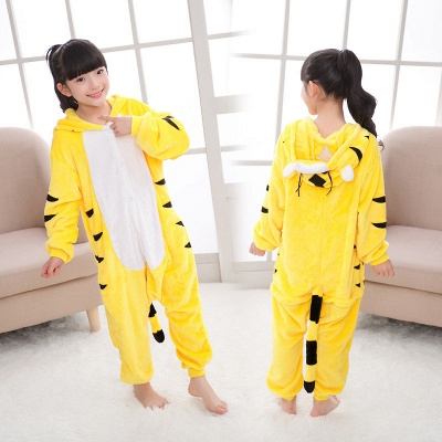 Cute Animal Pyjamas for Kids Tiger Onesies, Yellow_7