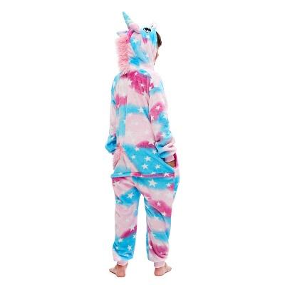 Lovely Pajamas Sleepwear for Kids Unicorn Hoodie Onesies_2