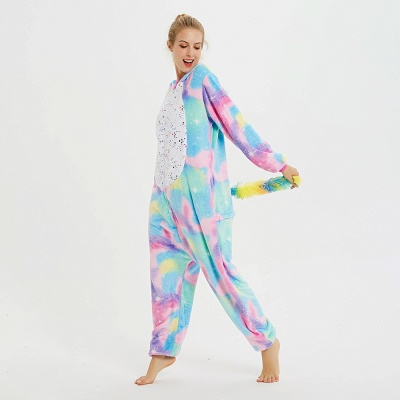 Cute Animal Pyjamas for Women Rainbow Hoodie Onesies_10
