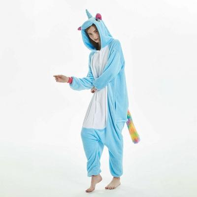 Downy Adult Sky Blue Unicorn Onesies Sleepwear for Girls_17