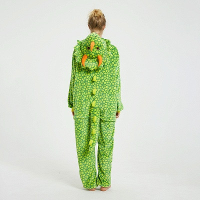 Cute Animal Pyjamas for Women Triceratops Onesie, Green_6