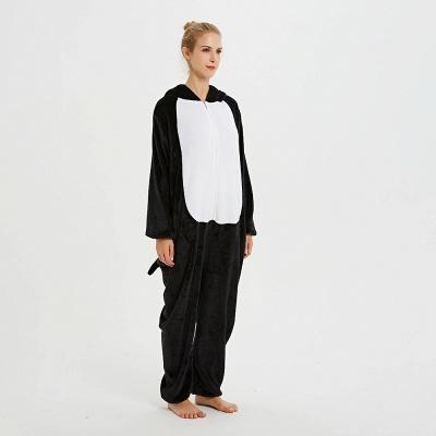 Cute Pyjamas for Women Huskie Onesies, Dark_11