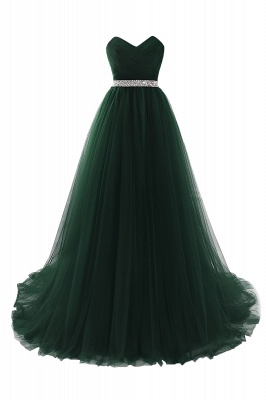 Cheap modest sweetheart sleeveless beading a-line prom dress in Stock_7