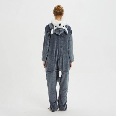 Lovely Pajamas Sleepwear for Women Huskie Onesie, Dark Grey_4