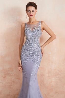 Sleeveless Bateau Beaded Sexy Long Mermaid Prom Dresses | Elegant Lilac Evening Dresses_4