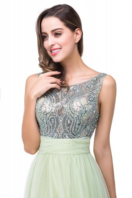 Scoop-Neckline Long Crystal A-line Charming Sleevless  Prom-Dress_6