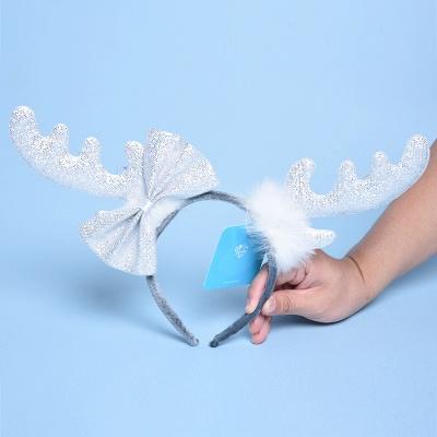 Christmas Decoration White Wapiti Deer Headhand_3