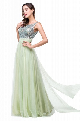 Scoop-Neckline Long Crystal A-line Charming Sleevless  Prom-Dress_4