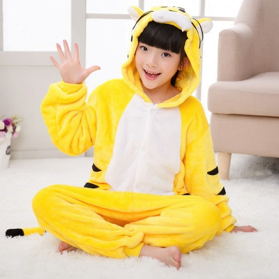 Cute Animal Pyjamas for Kids Tiger Onesies, Yellow_6