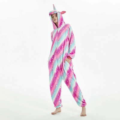 Downy Adult Coloful Onesies Pajamas for Women_19