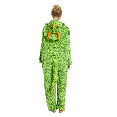 Cute Animal Pyjamas for Women Triceratops Onesie, Green_18