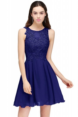 Cheap Burgundy A-line Homecoming Dress with Lace Appliques in Stock_4