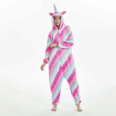 Downy Adult Coloful Onesies Pajamas for Women_1