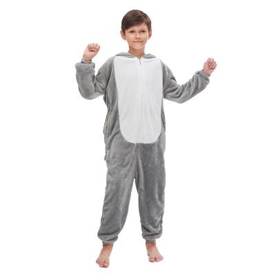 Lovely Animal Sleepwear for Boys MashiMaro Onesie, Grey_2