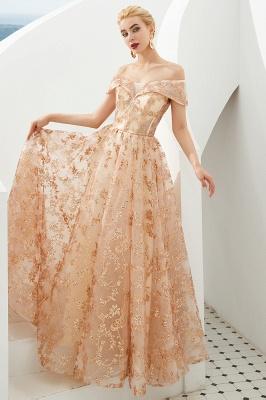 Gorgeous Off the Shoulder A-line Floor Length Lace Prom Dresses | Long Evening Dresses Cheap_5
