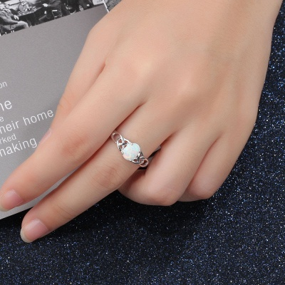 Chic Sterling Silver Ring Jewelry_7