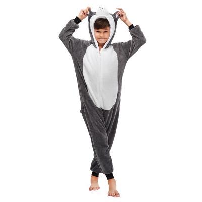 Lovely Pajamas Sleepwear for Boys Huskie Onesie, Grey_2