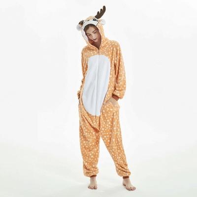 Cute Adult Deer Onesies Pajamas for Women_12