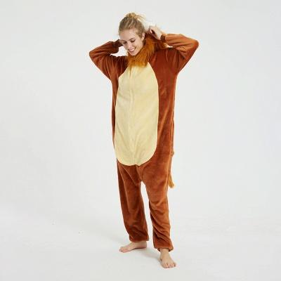 Cute Animal Pyjamas for Women Lion Onesies, Brown_10