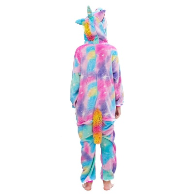 Cute Animal Sleepwear Unicorn Onesie, Rainbow_5