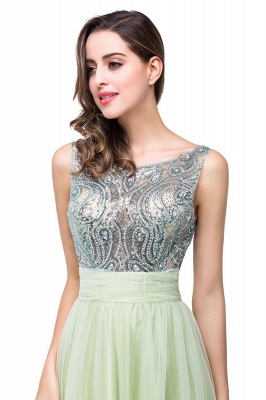 Scoop-Neckline Long Crystal A-line Charming Sleevless  Prom-Dress_10