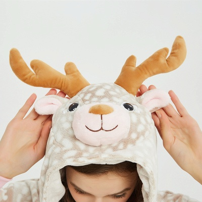 Adorable Adult Pyjamas for Women Deer Onesies_14