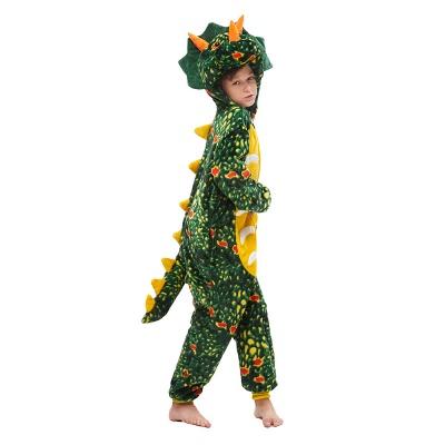 Lovely Animal Sleepwear Dinosaur Onesie, Dark Green_2