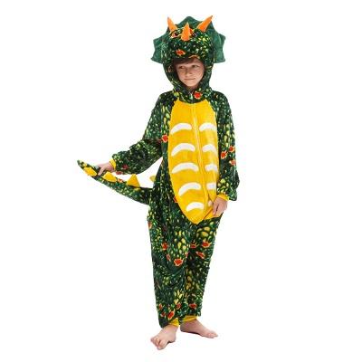 Lovely Animal Sleepwear Dinosaur Onesie, Dark Green_1