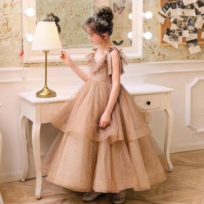 V-neck Straps Tulle Puffy Princess Flower Girl Dresses | Kids for Dress for Wedding_4
