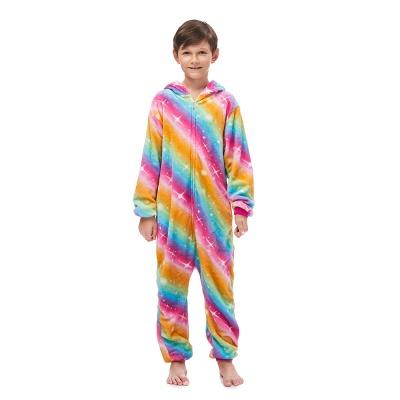 Lovely Pajamas Sleepwear for Kids Unicorn Onesies, Rainbow_6