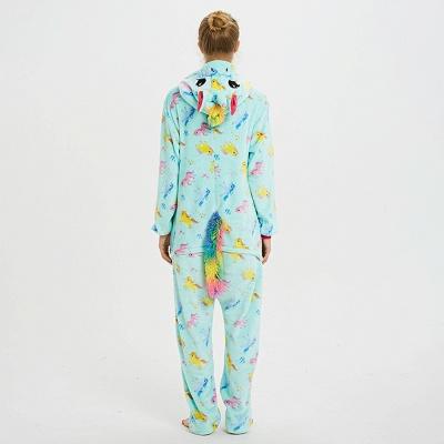 Cute Animal Pyjamas for Women Triceratops Onesie, Green_3