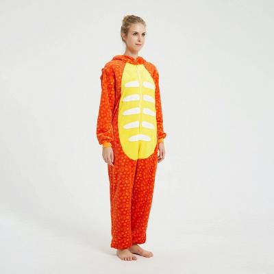 Adorable Adult Pyjamas for Women Triceratops Onesie, Orange_12
