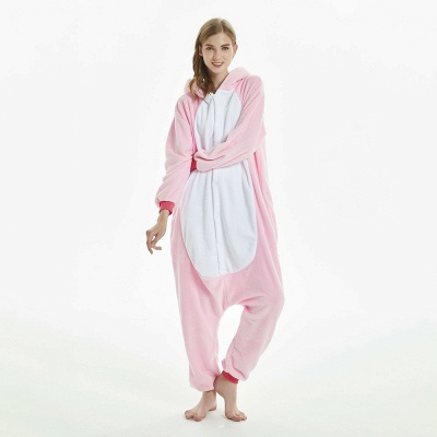 Cute Adult Pink Unicorn Onesies Sleepwear for Girls_6