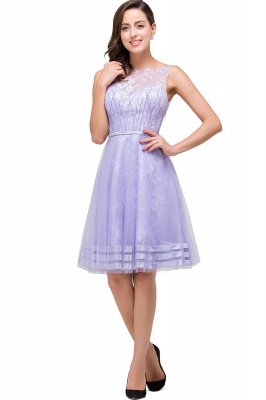 2019 Lavender Short Lace A-Line Sleeveless Mini Homecoming Dress_3