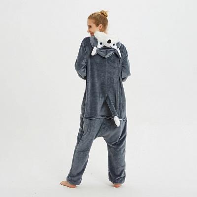 Lovely Pajamas Sleepwear for Women Huskie Onesie, Dark Grey_6