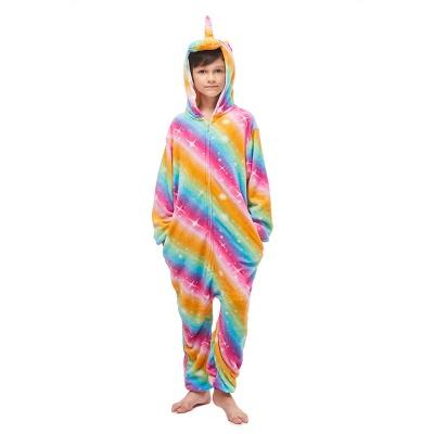 Lovely Pajamas Sleepwear for Kids Unicorn Onesies, Rainbow_1